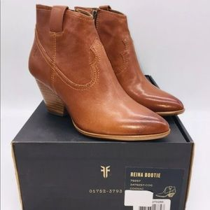 Frye Reina Western Leather Ankle Boots